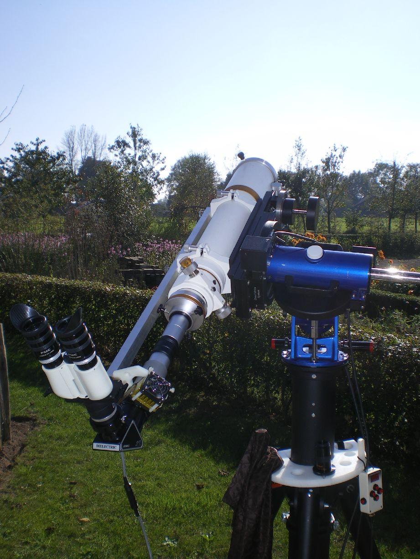 William Optics FLT110mmF7 met Solar Spectrum en Denkmeyer bino